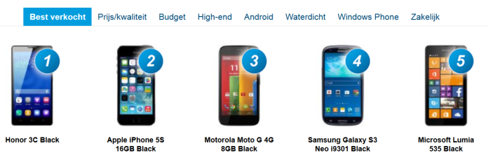 belsimpel sales lumia 535