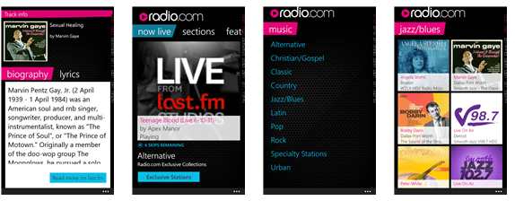 Radio com app now available on Windows Phone Store