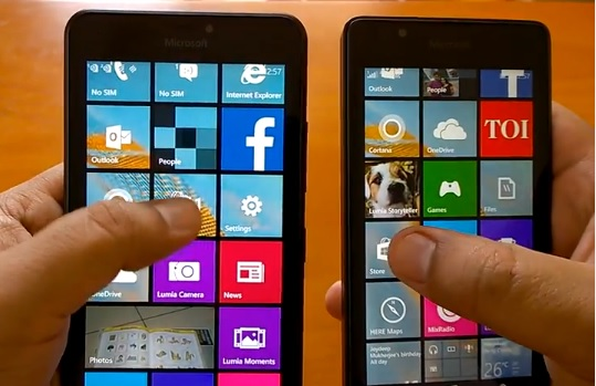 Lumia 540 vs 640 XL comparison
