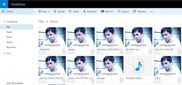 OneDrive music
