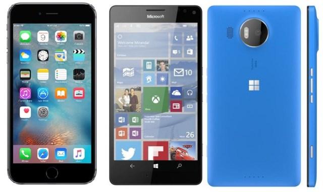 iphone 6s vs Lumia 950