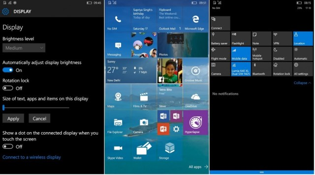 Build 10549 Phablet
