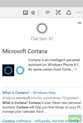 Dutch Cortana