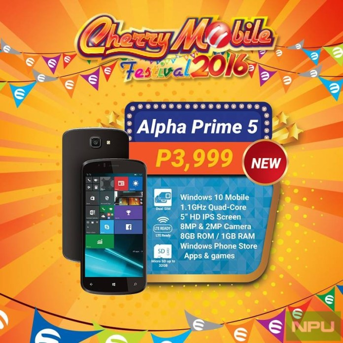 CherryMobile Alpha Prime 5