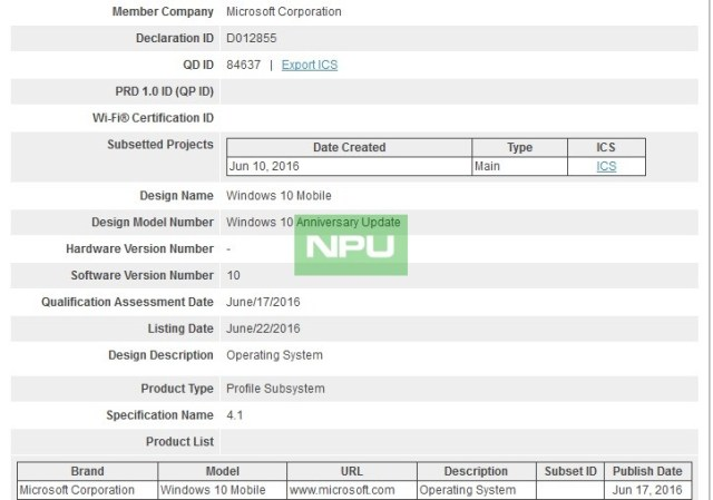 Windows 10 Mobile Anniversary update Bluetooth