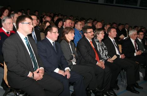 Zum Neujahrsempfang der Gemeinde Seckach waren viele Ehrengäste gekommen. (Foto: Liane Merkle)
