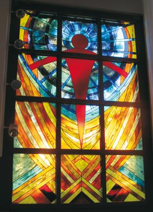 300 Kirchenfenster Zwingenberg