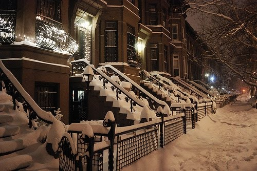 Snowy Night, Brooklyn, New York