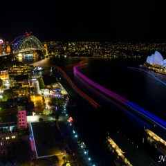 Sydney Opera House and Harbour Bridge - Vivid Sydney 2014 (3J8A01256)