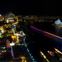 Sydney Opera House and Harbour Bridge - Vivid Sydney 2014 (3J8A01258)