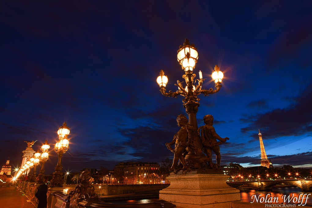 Sunset over the Eiffel Tower from Pont Alexandre III (454F34155)