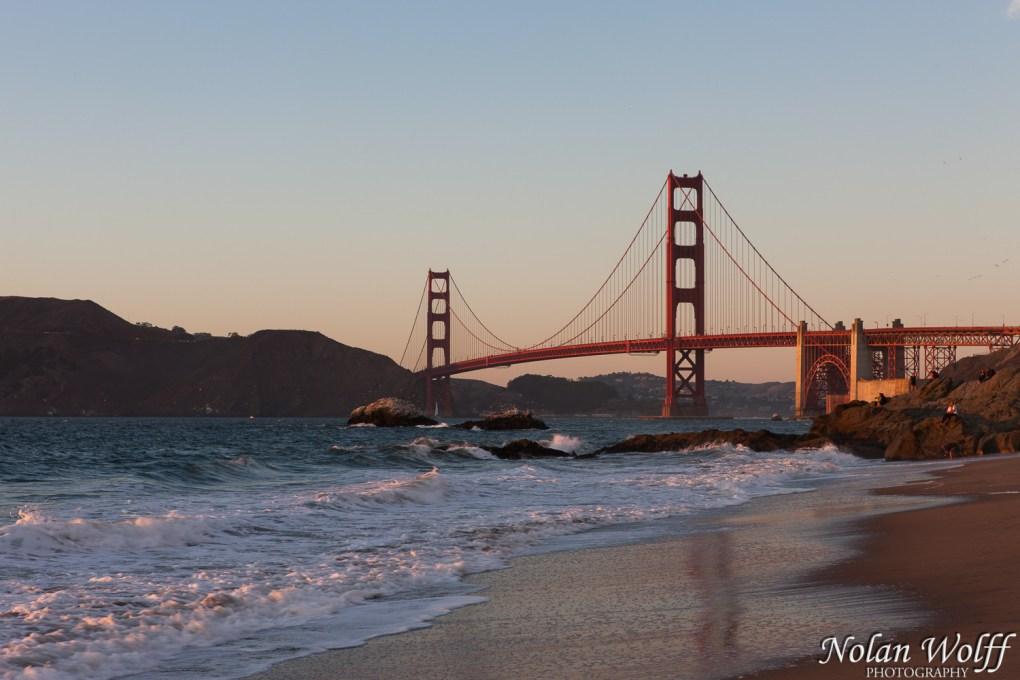 Golden Gate Bridge sunset reflections (454F39456)