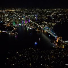 Aerial view of Vivid Sydney 2016 (AA4799)