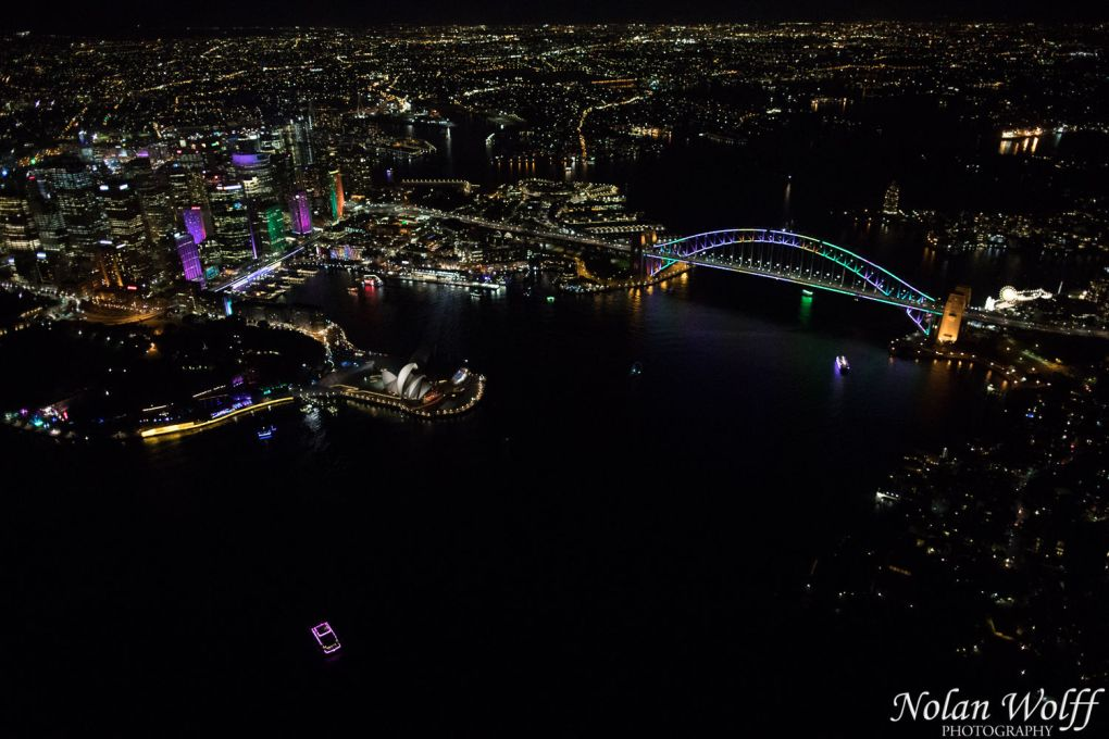 Aerial view of Vivid Sydney 2016 (AA5025)