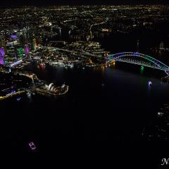 Aerial view of Vivid Sydney 2016 (AA5025)