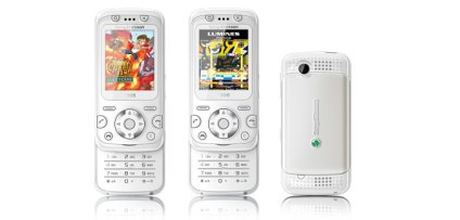 Sony Ericsson F305 en blanco