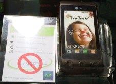 LG KP570 precio viejo en Movistar