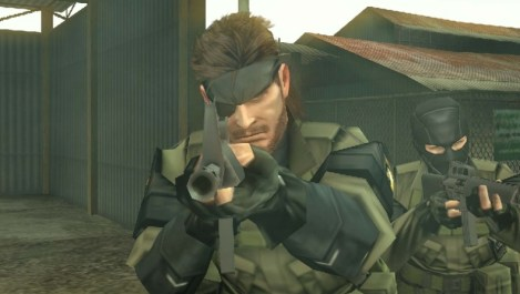 metal gear solid peace walker snake apuntando
