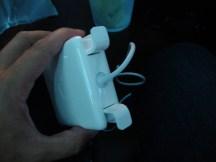 """Transformador de corriente con las """"orejas"""" arriba."""