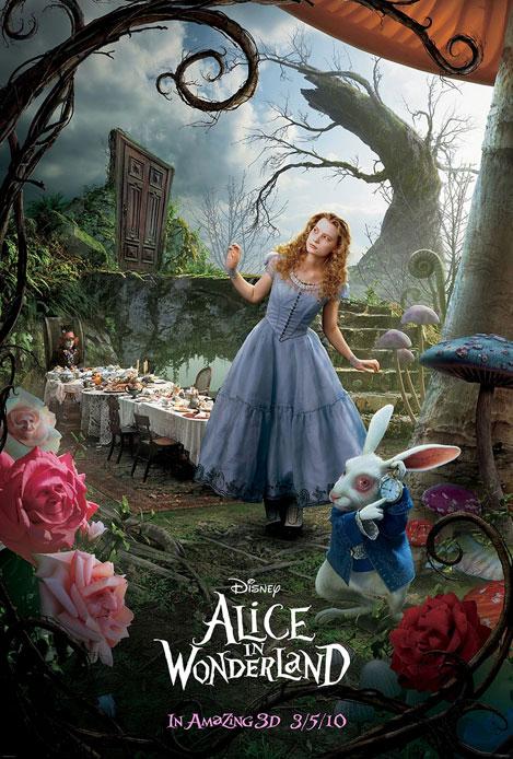 alice in wonderland poster noviembre 2009