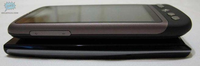 De arriba abajo: HTC Desire, Sony Ericsson Xperia X10
