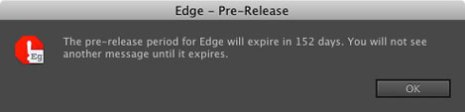 adobe edge trial warning