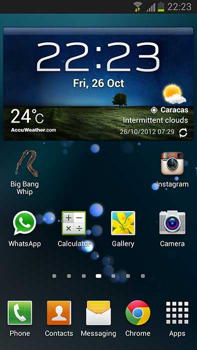 widget del clima de samsung