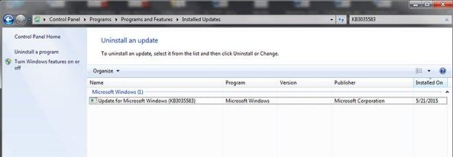 desinstalar-actualizacion-de-windows-KB3035583
