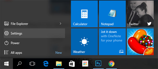 settings-start-menu-windows-10
