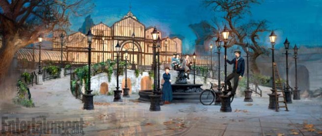 Mary Poppins Return (2018) Concept art - Lamplighters ANY ADDITIONAL USAGE SHOULD BE CLEARED WITH DISNEY