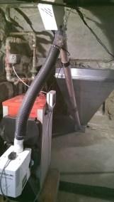 Kocio węglowy z palnikiem pelletowym
