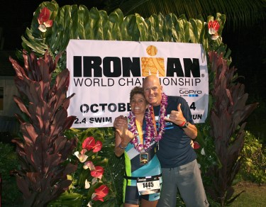 An extraordinary experience to race the Ironman World Championships together