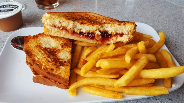Grilled peanut butter and jelly at the Pink Pony on Mackinac Island