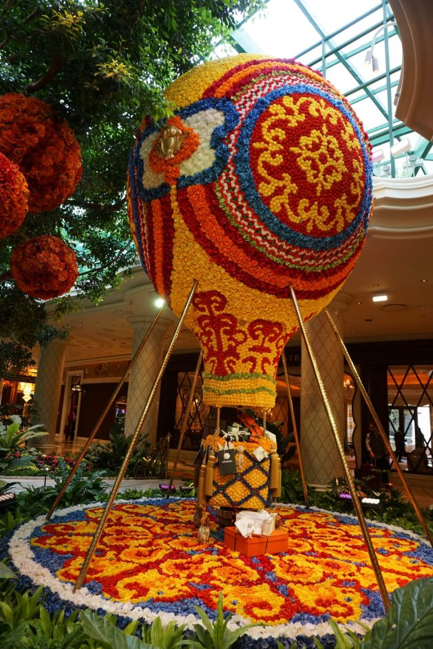 Flowers inside the Wynn Casino in Las Vegas, Nevada