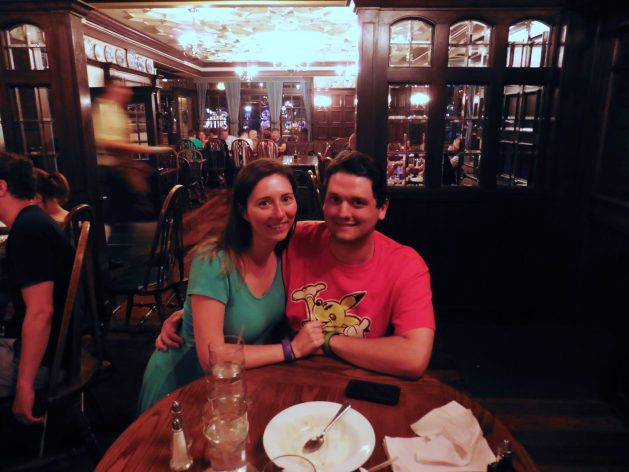 Dining at the Rose & Crown in Epcot