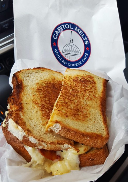 Grilled macaroni and cheese at Capitol Melts - Albany dining guide