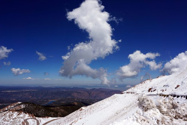 Clouds above Pikes Peak