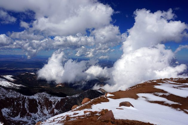 View from the summit of Pikes Peak
