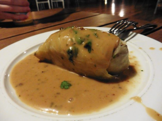 Golubki (stuffed cabbage) in the Wieliczka Salt Mine