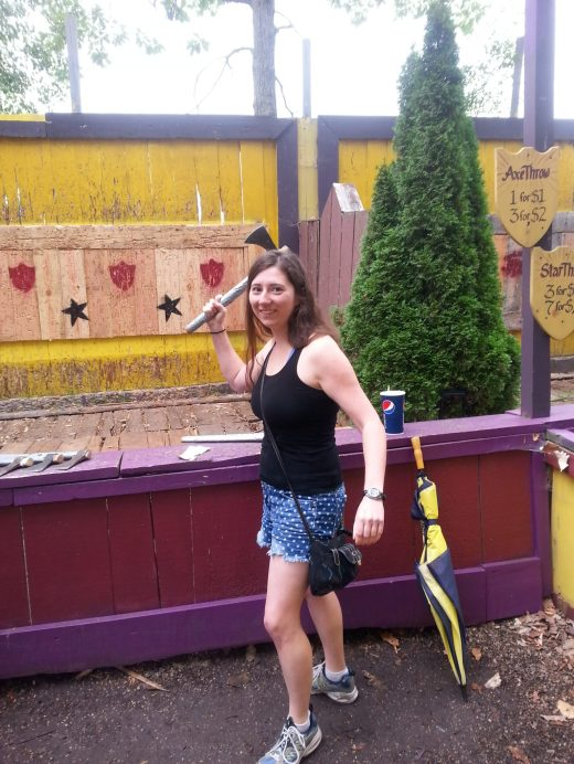 Axe throwing at the Michigan Renaissance Festival