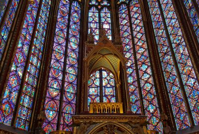 Stained glass in Sainte Chappelle
