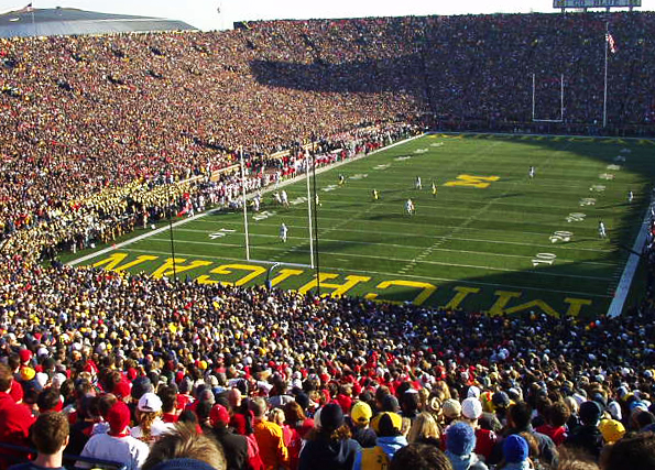 Michigan Stadium, home of the Wolverines