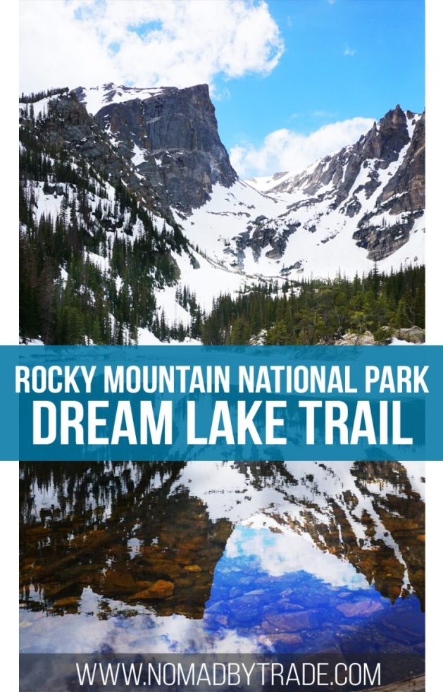 The Dream Lake Trail in Rocky Mountain National Park is an easily accessible trail that offers spectacular views of mountain lakes. Colorado | Rocky Mountain National Park | Bear Lake | Nymph Lake | #Colorado | #RMNP | #RockyMountainNationalPark | #ColoradoHikes | #EstesPark