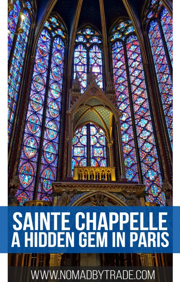 Sainte Chappelle in Paris, France has a spectacular display of stained glass. #Paris | #France | Things to do in Paris | #SainteChappelle