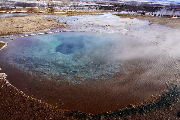 Blesi pool in the Geysir area - Iceland's Golden Circle in winter