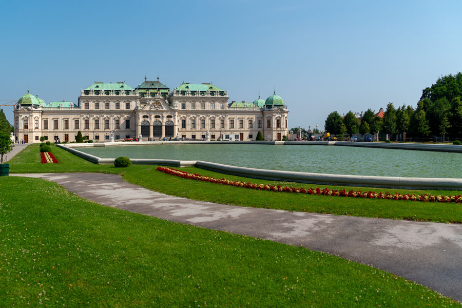 Grounds outside Belvedere Palace in Vienna