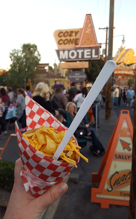 Chili Cone Queso at the Cozy Cone Motel in California Adventure