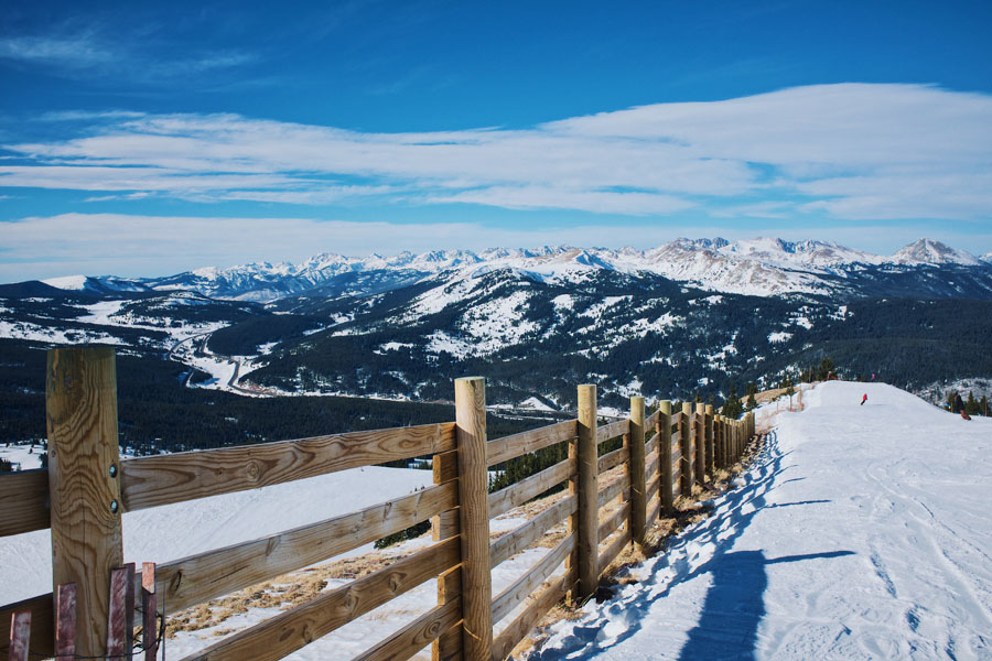 Snowy trails at the Breckenridge Nordic Center