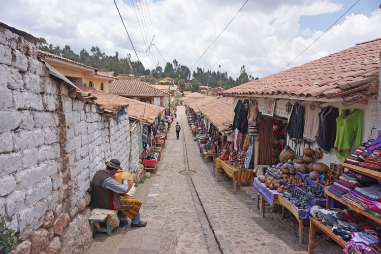 Chinchero market, one of the stops on our Sacred Valley tour from Cusco to Ollantaytambo
