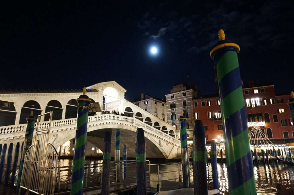 Venice at night is a beautiful time to explore